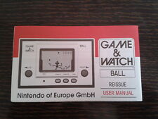 NINTENDO GAME & WATCH BALL REEDITION CLUB NINTENDO ENGLISH INSTRUCTION MANUAL