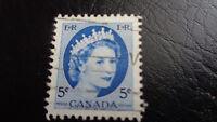 Canada, Briefmarke, Stamp, 1954, Queen Elisabeth 5C,  gestempelt