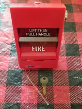 GE EST SIGA-278 Dual Action Fire Alarm Pull Station w/ Glass Rod, Key