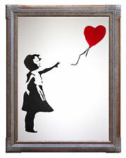 Banksy Balloon Girl on Canvas or Paper Poster Print