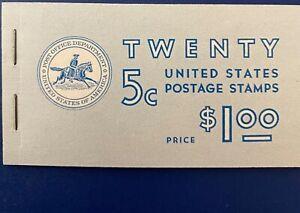 US #BK110 Booklet of 20, five cent George Washington Stamps