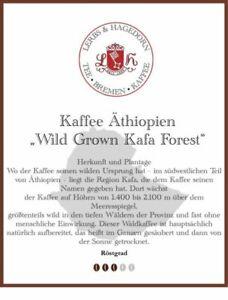 """Äthiopien """"Wild Grown Kafa Forest"""" Kaffee 1kg"""