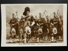 Military: SCOTTISH REGIMENT Drum Major & Pipers Old Postcard By B.S. & Malyon