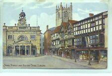 Broad Street Butter Cross Ludlow Shropshire unused AR Quinton sketch postcard