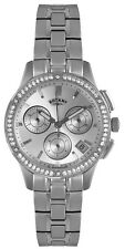 Rotary LB02755/06 Timepieces Silver Dial Stainless Chronograph Women's Watch