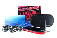 Sony PS Vita Red Black Slim PCH-2000 w/ Charger + Box + 8GB Memory [Excellent+]