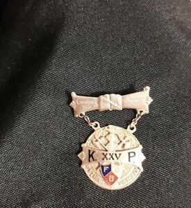1926 VINTAGE10k Gold Knights of Pythias Supreme Lodge Pythian Veteran Pin/ Medal