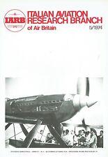 ITALIAN AVIATION RESEARCH 05/74 FACSIMILE: MACCHI MC-72/NAT TECH SCIENCE MUSEUM