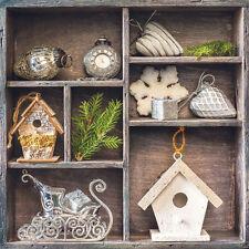 Servietten 20,  Serviettentechnik Cottage Deco Weihnachten Ambiente 33 x 33