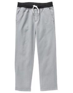 NWT Gymboree Boys Pull on Pants Gray Shipmates 2T,3T,4T,5,6,7,8,10