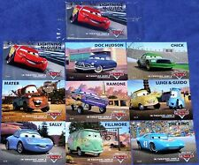 Disney Pixar CARS Movie New Disney Store Exclusive promo 9 Collecters Cards 2006