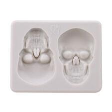 3D Skull Silicone Mould Cake Decor Fondant Chocolate Tray Soap Baking Mold LD