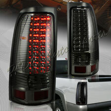 For Chevy/Silverado GMC/Sierra 1500 2500 3500 LED Smoke Housing Tail Lights Lamp