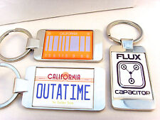BACK TO THE FUTURE NUMBER PLATE FLUX PERFECT 2015 KEYFOB KEYRING BOTTLE OPENER