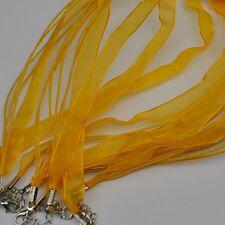 Halsband Organza Band VIELE FARBEN Halskette Stoffkette Trachtenschmuck 1 cm NEU