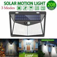 Lampada luce faretto faro esterno energia solare 208 LED sensore movimento