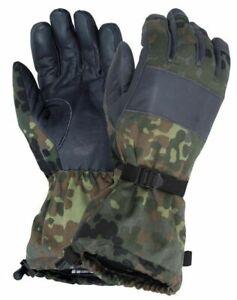 Genuine German Army Cold Weather Goretex Flecktarn Combat Gloves Grade 1 #3367