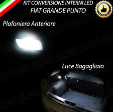 KIT FULL LED INTERNI GRANDE PUNTO PLAFONIERA ANTERIORE SINGOLA +BAGAGLIAIO 6000K