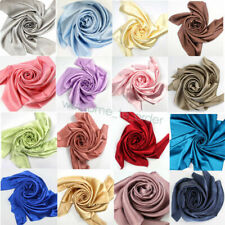 Soft 100% Pure Mulberry Silk Charmeuse Satin Fabric 19mm 30 Color Wide 114CM