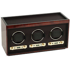 Wolf Design 2.7 Meridian Triple Automatic Modular Watch Winder 3 Waches Burlwood