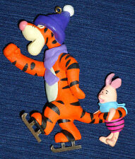 Winnie the Pooh's friends TIGGER & PIGLET Winter Ice Skating Christmas Ornament