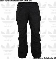 "adidas Originals Snowboarding Women's 2014 ""SLUB STRIPE"" Pants(M)Black G88910"