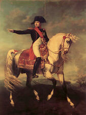 """Dream-art Oil painting Emperor of the French Napoleon on white horse in view 36"""""""