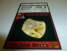 1998 CHICAGO BULLS TICKET BASKETBALL PLAYOFF HOME GAME J UNITED CENTER