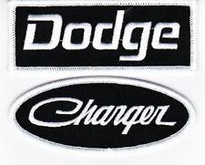 DODGE CHARGER BLACK WHITE SEW/IRON ON PATCH BADGE EMBROIDERED HEMI MOPAR SRT