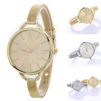 Fashion Women Classic Quartz Stainless Steel Band Mesh Belt Gold Wrist Watch New