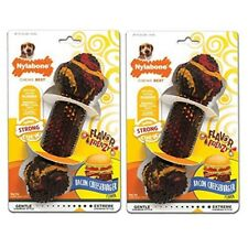 Nylabone Flavor Frenzy Chew Toy For Medium Dogs, Bacon Cheeseburger Dog Toy