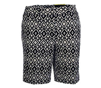 Mario Serrani Itay Comfort Stretch Tummy Control Shorts, Black & White, 12
