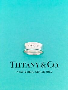 Tiffany & Co Sterling Silver 1837 Ring. Size 6. RRP $505