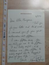More details for ronnie barker -british comedy actor & writer - handwritten signed letter  1997