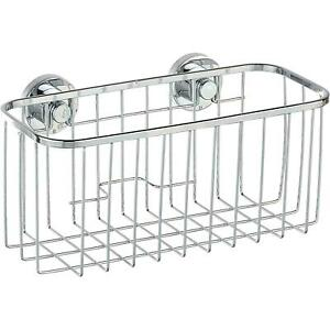 Wenko Power-Loc Universal Basket Bovino, Fixing Without Drilling - Silver Shiny