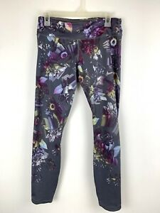 Nike Epic Lux Women's Medium Printed Running Floral Tights Gray Multi AH8174 011