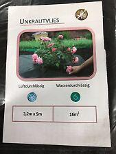 5m x 3,2m Unkrautvlies Gartenvlies Bodengewebe Unkrautfolie Mulchvlies