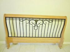 Sleigh Wood Queen  Headboard  Foot board  Rails Light Wood  Shipping not include