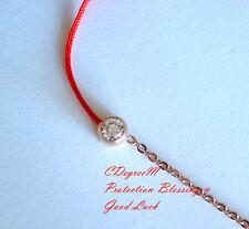 18K Rose Gold GP Crystal Fine Red String Protection Bracelet Good Luck