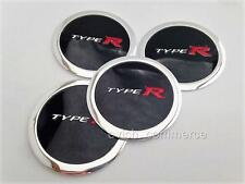 TYPE R Wheel Center Caps Stickers Badges Decals UNIVERSAL 60mm Set of 4