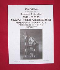 Dura-Craft  *SAN FRANCISCAN* SF-550  Dollhouse Instructions