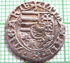 HUNGARY MATTHIAS I HUNYADI NO DATE (1458-1490) DENAR, MADONNA WITH CHILD, SILVER
