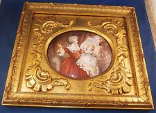 Amazing Antique Enamel on Copper Painting Plaque Austrian or French Austria