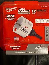 Milwaukee 12 Pc Carbide Teeth Hole Saw Kit 49-22-3090 New In Box