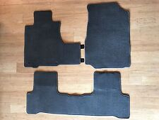 Honda Floor Mats D7E29 - Complete Coverage - 3 Piece Set - w/ Loops And Snaps