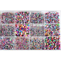 120Pcs Wholesale Lots mixed Lip Piercing Body Jewelry Barbell Rings Tongue Ring