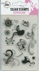 NEW Clear Acrylic Craft Stamp Set Birds and Leaves.