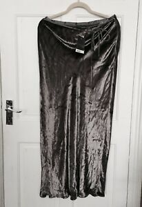 Principles Crushed Velvet Lilac Maxi Skirt/ Size 14 UK  / New