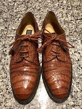 Barneys New York Brown Alligator Men's Oxford Shoes