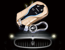 Aluminum Maserati Ghibli FOB remote smart key chain cover case shell holder